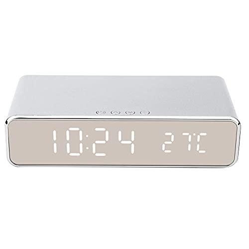 Reloj de cabecera electrónico, termómetro, reloj despertador digital, resistente y duradero, configuración de alarma de soporte, temperatura, visualización de la hora, conversión de grados de temperat