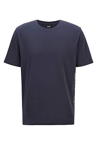 BOSS Herren Identity T-Shirt RN Pyjama-Shirt aus Stretch-Baumwolle mit vertikalem Logo