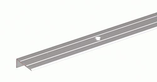 GAH-Alberts 490133 Treppenkanten-Schutzprofil | gebohrt | Aluminium, silberfarbig eloxiert | 1000 x 24,5 x 10 mm