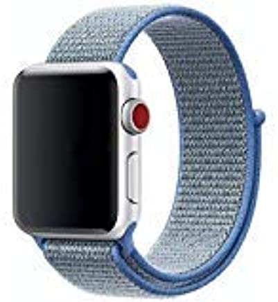 c617f1b9b ... Sport Loop Band Compatible with Apple Watch 44mm 42mm 40mm 38mm,  Adjustable Closure Wrist Strap Replacement Band for iWatch, Nike+, Series  4, 3, 2, 1