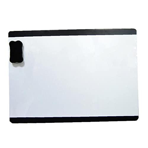 NIDONE Borrable magnética Calendario Pizarra - Pizarra para su refrigerador, Cocina y Oficina. Diseño Elegante Planificador mensual para Todas Sus Actividades para niños