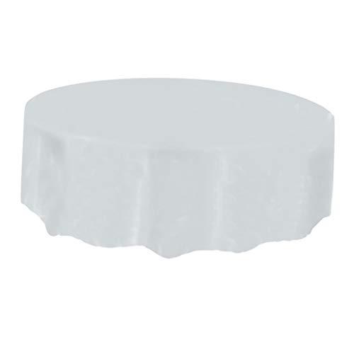 PETSOLA Runde Tischdecke Für Spring Action Home Küche Garten Picknick BBQ Party - Weiß