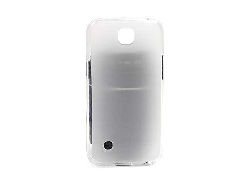 etuo Handyhülle für LG K3 LTE (K100) - Hülle FLEXmat Hülle - Weiß - Handyhülle Schutzhülle Etui Hülle Cover Tasche für Handy