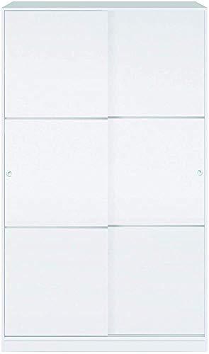 El armario es duradero y duradero, con 2 puertas correderas 1 boom 4 cublados de dormitorio 200 x 120 x 50 cm brillante,White