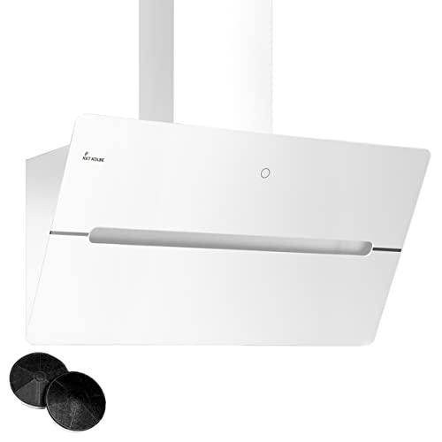 KKT KOLBE/Kopffreie Wandhaube/Dunstabzugshaube / 90cm / Edelstahl/weißes Glas/Nachlaufautomatik/SensorTouch Bedienung / ECCO909W