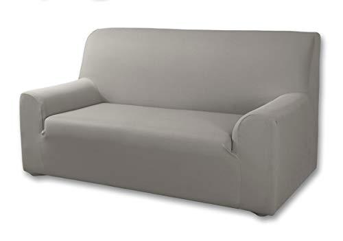 Velfont – Bielastischer Sofabezug Roma - Sessel/1 Sitzer (70-115cm) - Hellgrau - verfügbar in verschiedenen Größen und Farben