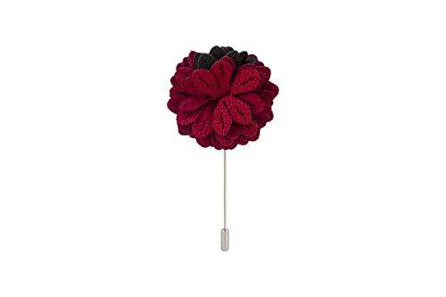Knighthood Herren-Anstecknadel, handgefertigt, Blume, Knopflochnadel, mit Geschenkbox, für Anzug, Hochzeit, Bräutigam LP-02