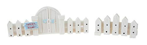 VBS Deko Gartenzaun, 2er-Set. Miniaturwelt Puppenwelt Mini-Gärten Krippen basteln