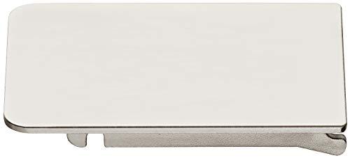 Gedotec Pannenschnier Tiomos Mirro glazen deurscharnier voor spiegeldeuren en glazen deuren | scharnier met demping | openingshoek 125 ° | made in Australia | 1 stuks pannenband met montageplaat 1 Stück - Türadapter Stahl Vernickelt