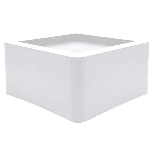 DuraCasa Betterhöhung für 14 cm große Bett- oder Möbelpfosten, 7,6 cm Höhe oder Stauraum Schwerlast-Tisch, Stuhl, Schreibtisch oder Sofa, plastik, Schwarz , 3 Inch White