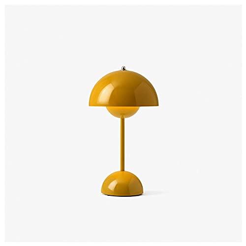 Lhl Lámpara de mesita de Noche Simple, luz de Color Retro, luz cálida y Encantadora para Proteger la lámpara de Mesa de Noche, para niños Familiares de Estudio (Color : Yellow)