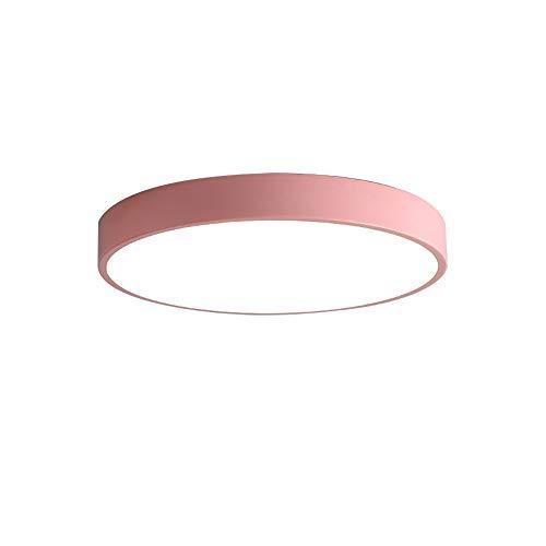 BigPinwheel Minimalista LED de luz de techo Macaron colorido 30 centimetros Rosado