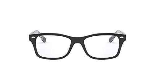 Ray-Ban Junior Kids' RY1531 Square Prescription Eyeglass Frames, Black On Texture Grey Black/Demo Lens, 48 mm