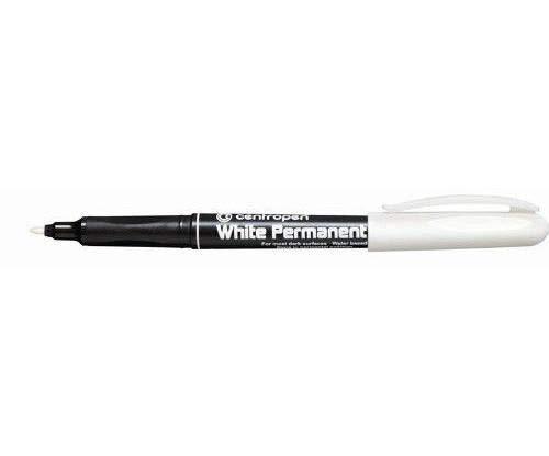 Marker-Permanent Spitze 2,5 mm, Weiß, Centropen, Marker, Stifte, künstlerbedarf