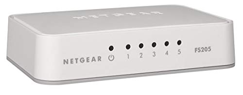Netgear FS205-100PES - Switch 5 Puertos Fast Ethernet 10/100