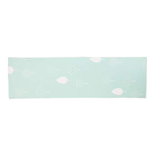 濡らしてひんやり夏の必需品クールタオル ポーチ付き 選べる5柄×2色 UVカット98% UPF50+ (イエローグリーン)