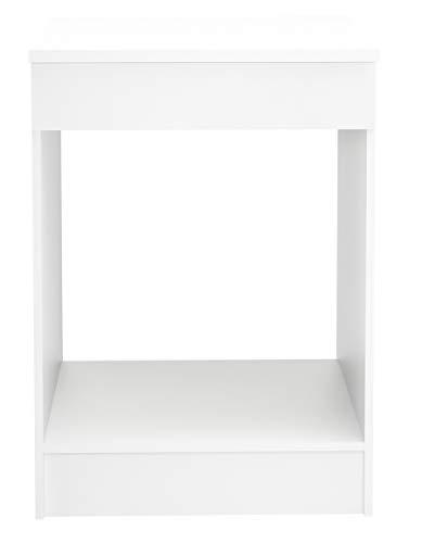 PEGANE Meuble de Cuisine Bas pour Four Coloris Blanc - Dim : L.60 x H.86 x P.60cm