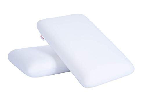 VintFlea Almohada de espuma viscoelástica para un sueño cómodo, tamaño Queen (paquete de 2)