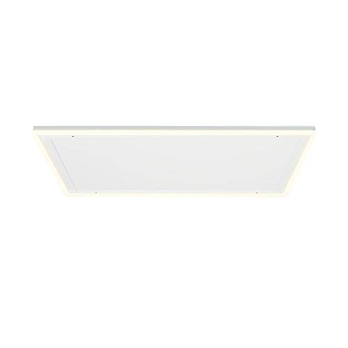 Klarstein Midnight Sun Decken - Infrarotheizung, LED-Dekobeleuchtung, warmweiße & kaltweiße Lichtfarbe, Überhitzungsschutz, Thermostat, Wochentimer, 110,5 x 70,5 cm, 600 Watt, weiß