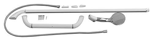 Kinedo douchestang T-vorm (met magnetische handdouche; lengte 50 cm; gewicht 7 kg; hoogte: 100 cm) wit, KINDOUCHE03