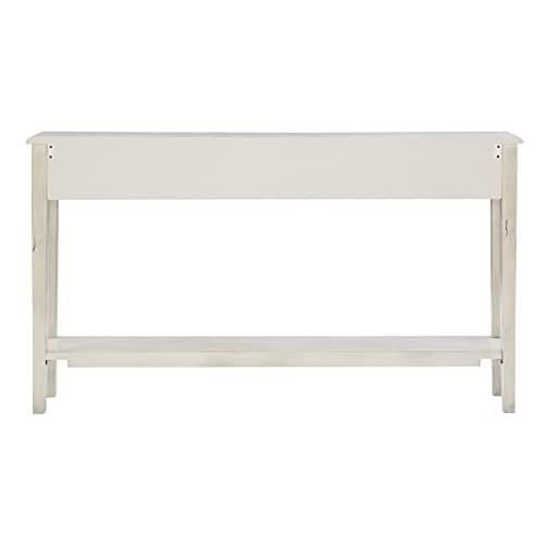 Powell Furniture Sadie Cream Long Storage Console Table, Multicolor