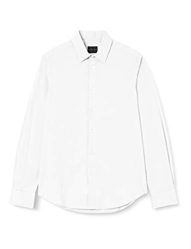 Sisley Shirt Camicia, Bianco 101, 38 Uomo
