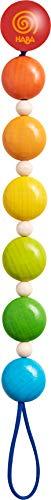 HABA 304704 - Schnullerkette Farbenspiel, Schnullerkette aus Holz in Regenbogenfarben; Baby-Spielzeug ab 0 Monaten