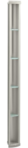 KOHLER K-1840-MX Pilaster Shower Locker, Matte Nickel -