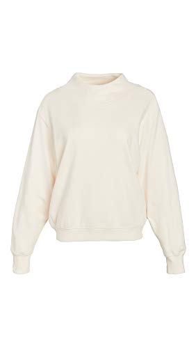 Z Supply Women's Funnel Neck Sweatshirt, Ivory, White, Small