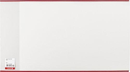 Brunnen 1040245 Buch-, Heftumschlag / Buchschoner, Buchhöhe 24,5 cm, 44 x 24,5 cm, mit rotem Kantenschutz) transparent