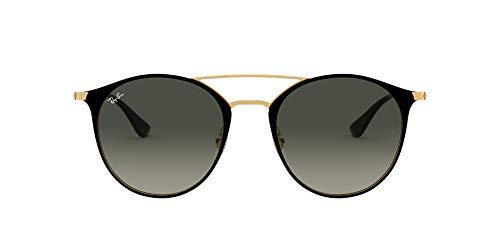 Ray-Ban Unisex-Erwachsene RB3546 Brillengestelle, Schwarz (Gold Top Black/Grey Gradient), 52