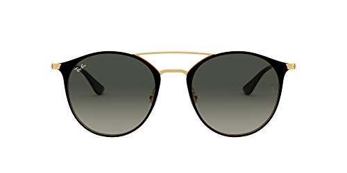 Ray-Ban 0RB3546 Gafas de sol, Gold Top Black, 49 Unisex-Adulto