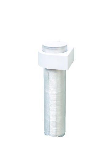 Inno Bathroom Wattepadspender für Kosmetik-Pads, Befestigung mit tesa Powerstrips ohne bohren