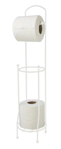 Home Basics - Organizador de Papel higiénico, Color Blanco