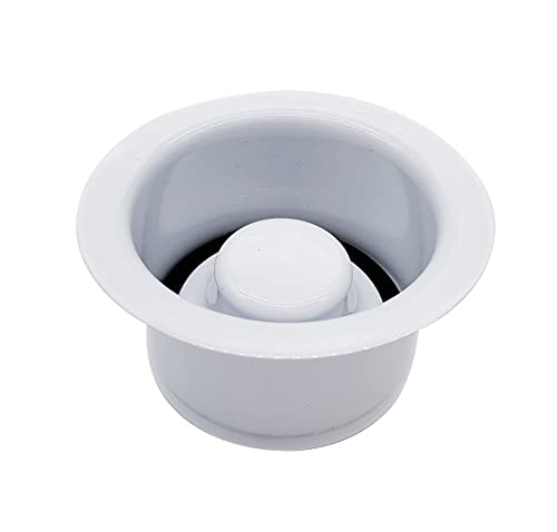 Westbrass D2082-50 Extra-Deep Waste Disposal Flange & Stopper, Powder Coat White