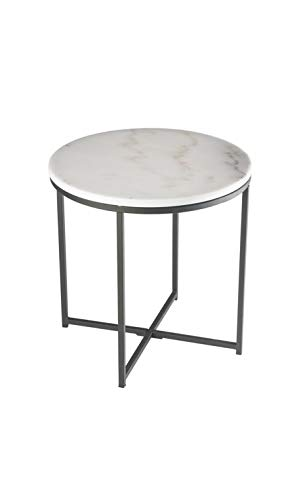 CAMINO A CASA - Table d'appoint Plateau Rond marbre Cycles 50 cm