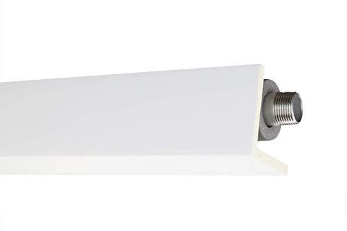 2 Meter Rohr- und Kabelabdeckleiste 90x90mm - PU glatt, weiß, stoßfest - AB297 Hexim Perfect - Eckleiste Stuckleiste Dekorleiste Stuckprofil Zierprofile