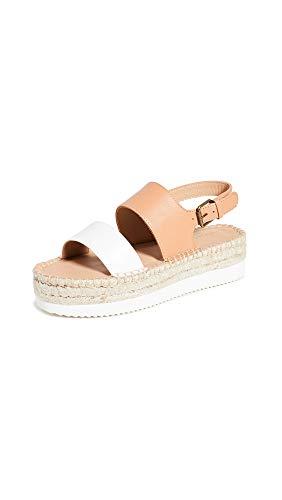 Soludos Ali Sport-Sandalen für Damen, Beige (Kamel/Weiß), 39 EU