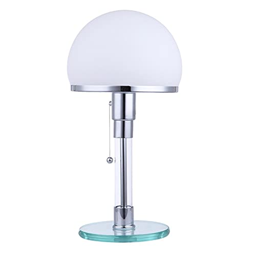 Lámpara de noche Lámpara de escritorio de Bauhaus Nordic Simple Vidrio Lámpara de mesa moderna Dinamarca Dormitorio Lámpara de noche for sala de estar Dormitorio Dormitorio Decoración for el hogar Fix