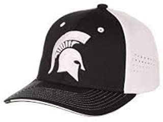 Zephyr Michigan State University MSU Spartans Green White Pacer Top Performance Mens/Womens Adjustable Baseball Hat/Cap