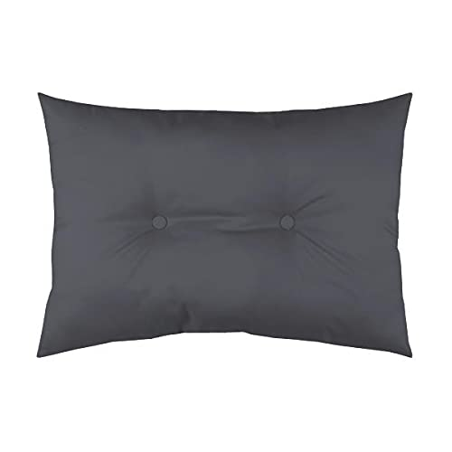 Outdoor Upholstered Cushion, Anthracite/Dark Grey, 50 x 70 cm, Waterproof, 100% Polyester