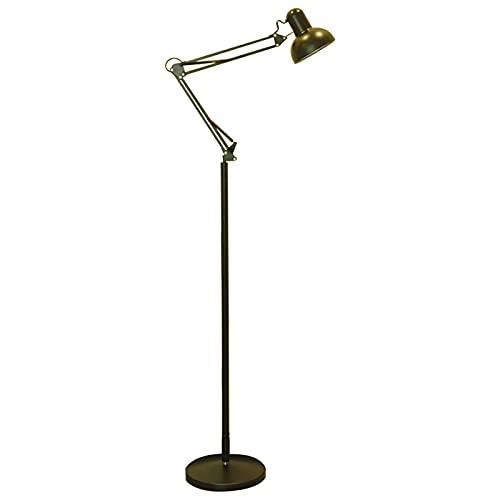 Lámpara de Piso Lámpara de pie de metal, con brazo de giro ajustable, lámpara de polo de pie con base de trabajo pesado, para sala de estar, dormitorio, sala de estudio de oficina Lámpara de Pie Elega