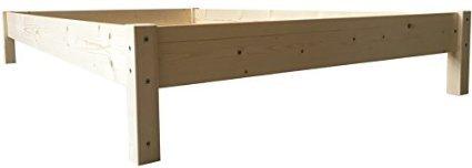 LIEGEWERK Futonbett Bett Holz Holzbett Massivholzbett 90 100 120 140 160 180 200 x 200cm, hergestellt in BRD (100cm x...