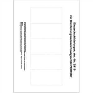 Pijpleidingmarkering perfect blanco beletteringsboog voor leidingmarkering perfect wit 21 x 29,7 cm formaat papierinleg: 4,95 x 10 cm 5 stuks