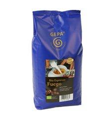 GEPA Bio Espresso Fuego - ganze Bohne - 1 Karton (4 x 1000g) Fair Trade Kaffee