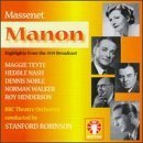Massenet: Manon (Highlights from the 1939 Broadcast) by Maggie Teyte