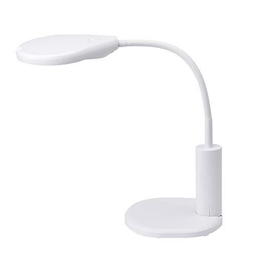 Qmagnifier loeplamp met klem en flip, 2,3 x 10 x led-daglichtlamp, tafelklem, vergrootglas, bureaulamp voor handwerk, lezen, werk, naaien, hobbys, slechtziendheid