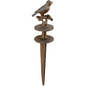 ecosoul Gartenschlauch Anker Schlauchanker Vogel dekorativ Schlauchführung für Gartenschlauch Befestigungsanker 31,5cm Gusseisen