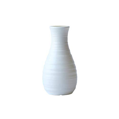 JSFGFSDH - Jarrón de plástico nórdico de imitación de cerámica para flores
