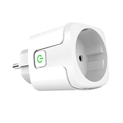JINGQII Enchufe inteligente inalámbrico de 20A, enchufe de control de voz WiFi Remote Socket Smart Timer Outlet compatible con Amazon Alexa/Google Home - Enchufe de la UE sin monitor de energía